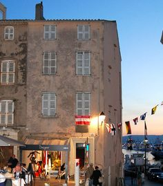 Best Places to Dine and Party in St Tropez France. Romantic Mediterranean Architecture overlooking the Historic Port of Saint Tropez