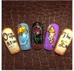 Disney storybook #nails