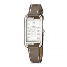 Hermès Cape Cod Nantucket Silver Bracelet étoupe - watch face view Hermes  Montre, Pendule, ea4674a00c3
