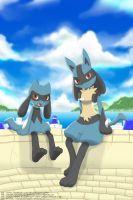 by Winick-Lim Lucario Pokemon, Ash Pokemon, Pokemon Fan Art, Cool Pokemon, Best Pokemon Ever, A Hat In Time, Pokemon Pictures, Digimon, Artist Art
