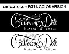 Custom logo plus FREE color variation black and white by Signtific