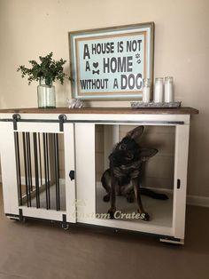 Custom Dog Crate Furniture *** Click image for more details. #DogCratesHousesPens