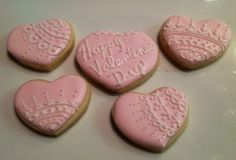 Lace Heats - Decorated Sugar Cookies by I Am The Cookie Lady