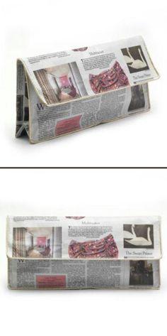 Newspaper Clutch Bag