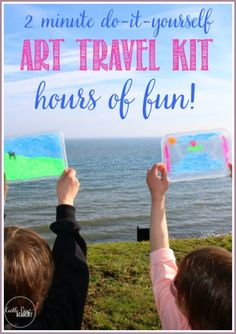 Are you ready for taking the kids on trips and keeping them entertained along the way? Here's a super easy art travel kit that will keep the kids happy.