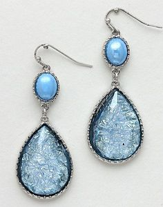 Sabine Earrings in Blue Iridescence