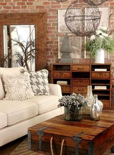 Nice 85 Cozy Rustic Farmhouse Living Room Decor Ideas https://homeastern.com/2018/02/01/85-cozy-rustic-farmhouse-living-room-decor-ideas/