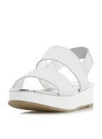 Womens *Head Over Heels by Dune 'Keddi' Flat Sandals- Silver