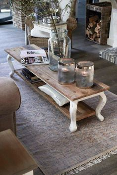 Decor, Home Decor Kitchen, Living Dining Room, Cozy House, Furniture Hacks, Kitchen Decor, Home Decor, Decorating Coffee Tables, Coffee Table