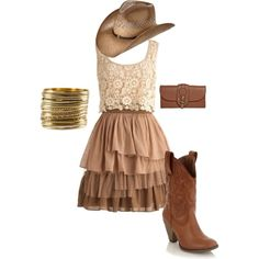 Cowgirl style by raeanmerissa on Polyvore featuring Call it SPRING, Mila Louise and H&M