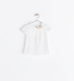 Baby Girl SHORT SLEEVE T-SHIRT WITH BOW from Zara