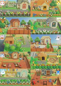 A little collage to show off my villagers' personalized yards! : AnimalCrossing#animalcrossing #collage #personalized #show #villagers #yards Animal Crossing Funny, Animal Crossing Wild World, Animal Crossing Guide, Animal Crossing Villagers, Animal Crossing Qr Codes Clothes, Ac New Leaf, Motifs Animal, Garden Animals, Animal Games