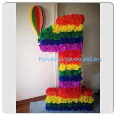 #Üçboyutlu #karton #sayı #rakam #doğum #günü #grafonkağıdı #süsleme #birthday #rainbow #gökkuşağı