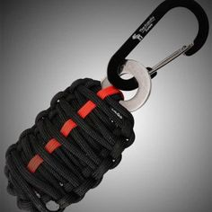 """""""Grenade"""" Survival Kit::  Blast your way out of sticky survival situations! Look like Da Bomb carrying it on you! Blow away your friends with your mad MacGyver skills! Exploding with possibilities, this Grenade survival kit small and compact enough to keep in a cubbyhole or carry in your pocket. It also is available in 4 different colors"""