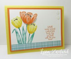 Tranquil Tulips Stampin Up free stamps blog shop with Lyssa