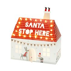 Santa Stop Here Light Up House | Talking Tables