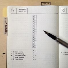 Bullet Journal: Testing new layout for my daily page. This is how they look when. - Bullet journal İdeas in 2019 Planner Bullet Journal, Daily Bullet Journal, Bullet Journal Spread, Bullet Journal Layout, Bullet Journals, Bujo, Journal Organization, Daily Page, Diy Tv