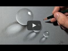 Drawings How to Draw Transparent Realistic Beads 3d Art Drawing, Water Drawing, Pencil Art Drawings, Realistic Drawings, Art Sketches, Painting & Drawing, Drawing Tips, Ball Drawing, Pitt Artist Pens