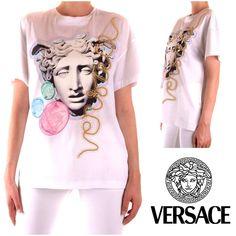 Medusa oversized t-shirt for women Blazers For Women, T Shirts For Women, Clothes For Women, White Patterns, Medusa, Versace, Saint Laurent, Spring Summer, Clothing