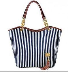 "Handtas canvas shoppingbag ""Stripes"""