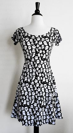 Ghost Skater Fit and Flare Dress Size S-3X by emandsprout on Etsy