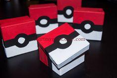 Pokebox - Pokemon Pokeball Trinket/Keepsake/Gift/ Birthday/Event Party Favor Box. $5.00, via Etsy.