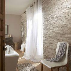 Plaquette de parement pierre naturelle gris / beige Cottage - Leroy Merlin