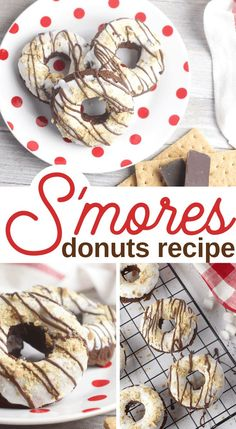 This Smores Donuts Recipe has me drooling ready to make another batch again--and it's been less than a day since I made the first. I have to do it again I have to make smores doughnuts. It's official. Donut Recipes, Fudge Recipes, Gourmet Recipes, Dessert Recipes, Cookie Recipes, Matcha, Hot Chocolate Fudge, Chocolate Chips, Donut Maker
