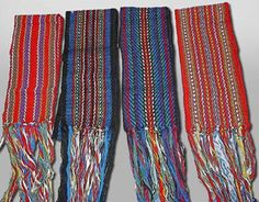 Métis Sash - the 3 metre long sash was usually wrapped around the midsection of the body, either to keep the coat closed, or to hold belongings, like a hunting knife or fire bag. Native American Wisdom, Native American Indians, Native Americans, Inkle Loom, Inkle Weaving, Finger Weaving, Fur Trade, Red River, My Heritage