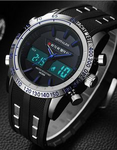 High-Quality 3D Sports LED Multi-Movement Watch. Enjoy This Popular Sports Chronograph is Packed Full Of Features. RUGGED SPORTS DESIGN: Analog and Digital LED sports watch, rubber band, dual movement, 3D design really fits perfectly into your active lifestyle. Also, make's a great gift for family or friends.