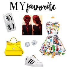 """My style my way"" by ellavcarlson on Polyvore featuring adidas, Dolce&Gabbana, Chiara Ferragni and Kobelli"