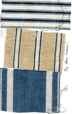 Indigo blue died vintage linen from Elizabeth Baer   http://elizabethbaertextiles.blogspot.com/2011/11/my-blue-heaven.html