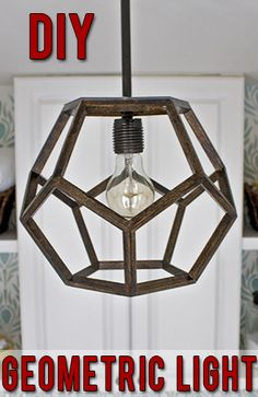 DIY Dodecahedron Pendant Light {And an Announcement!!} | * View Along the Way *