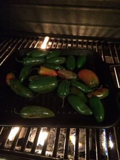 Grill Peppers until charred or soft.