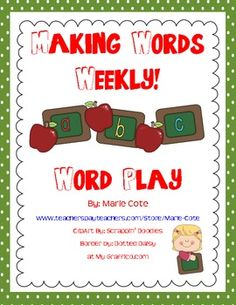This pack of Making Words Weekly comes with 41 making words sets. This is enough for you to choose one per week with a few left over. $6