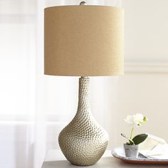 It's ironic that the epitome of activity in Mother Nature, the honeycomb, was the inspiration for something so serene. The hammered resin… Turkish Lamps, Bright Homes, Bedroom Lamps, Wall Lamps, Master Bedroom, Master Suite, Wall Lights, Foyer Decorating, Decorating Ideas