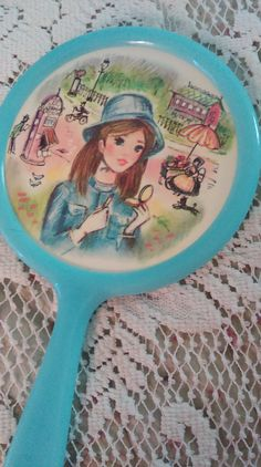 Vintage 1960s Child's Hand Mirror by CupidsAttic on Etsy