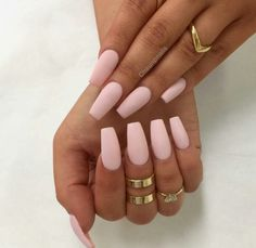 Nude nails & gold ring candy