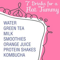 7 Drinks for a flat tummy in conjunction with workouts