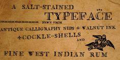 Saltpetre, typeface