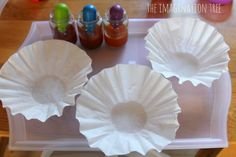 invitation to create with autumn spice paints and coffee filters