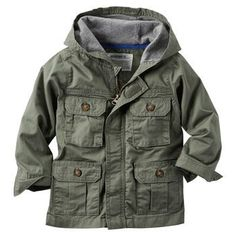 Hooded Twill Cargo Jacket