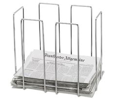 Great idea for keeping papers to recycle together and organized. I pinned this Blomus Wires Newspaper Collector from the Mudroom Makeover event at Joss and Main! Magazine Storage, Magazine Rack, School Furniture, Office Furniture, Design Online Shop, Newspaper Basket, Newspaper Stand, Shops, Kitchen Rack