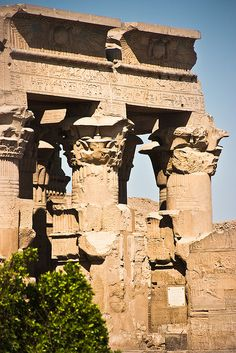 The Temple of Kom Ombo is an unusual double temple built during the Ptolemaic dynasty in the Kemetic town of Kom Ombo. Some additions to it, were later made during the Roman period.
