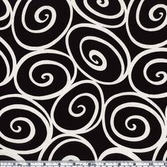 Michael Miller Ironworks Ebony from @fabricdotcom  Ironworks designed for Michael Miller Fabrics has a color palette of ivory swirls on an ebony background. Use this fabric collection to create a unique quilt.