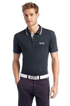 77d3e49e6 Amazon.com: BOSS Green Men's Paddy Pro 10143643 01 Black Polo Shirt SM:  Clothing