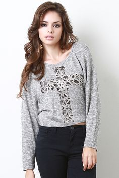 Be daring and add edge to your wardrobe with The Vengeance Top. The perfect casual printed long sleeve top! Under $15!