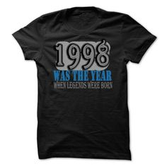 1998 Was The Year When Legends Were Born T-Shirts, Hoodies. Check Price Now ==►…