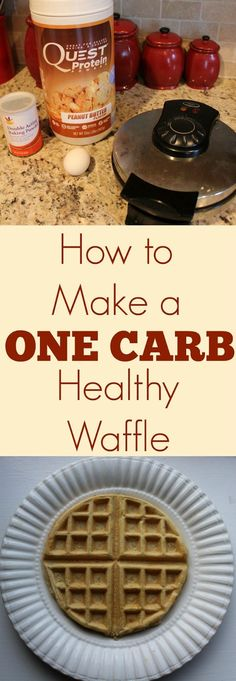 This recipe is a game changer. Have you heard of a one carb waffle before? Essentially it's a waffle....that ONLY HAS ONE DANG CARB IN THE...