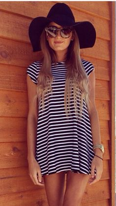 Summer Hats are a must! And we love this Boho Chic ensemble!
